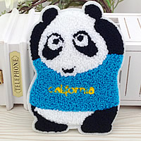 Iron on Patches, Cloth, with Velveteen, Panda, 110x160mm, 50PCs/Lot, Sold By Lot