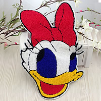 Iron on Patches, Cloth, with Velveteen, Donald Duck, multi-colored, 195x290mm, 20PCs/Lot, Sold By Lot