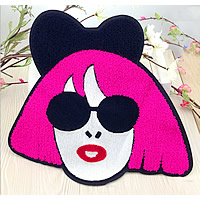 Iron on Patches, Cloth, with Velveteen, Girl, multi-colored, 280x265mm, 20PCs/Lot, Sold By Lot