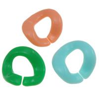Akrylowy Pierścień łączący, Akryl, Bryłki, Otwórz & efekt galaretki, mieszane kolory, 23x25x3mm, otwór:około 14mm, około 415komputery/torba, sprzedane przez torba