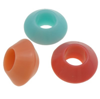 Jelly Style Acrylic Beads, Saucer, mixed colors, 9x16mm, Hole:Approx 7mm, Approx 625PCs/Bag, Sold By Bag