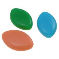 Grânulos acrílicos do estilo de geléia, acrilico, Olho de cavalo, efeito gelatina, cores misturadas, 17.20x11x4mm, Buraco:Aprox 1mm, Aprox 1250PCs/Bag, vendido por Bag