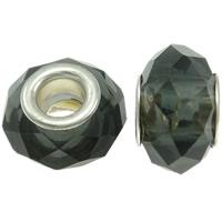 Кристальные бусины Европейская стиль, Кристаллы, Круглая форма, латунные Двухместный ядро без Тролль & граненый, бронзовый оттенок, 14x9mm, отверстие:Приблизительно 5mm, 20ПК/сумка, продается сумка