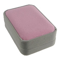 Velveteen Pendant Box, Plastic, with Velveteen, Rectangle, two tone, 70x100x38mm, 25PCs/Lot, Sold By Lot