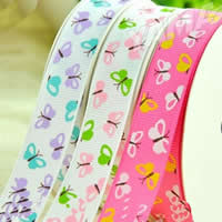 Grosgrain Ribbon printing with butterfly pattern single-sided mixed colors 2PCs/Bag 100Yards/PC