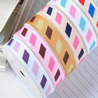 Grosgrain Ribbon, printing, different size for choice & single-sided, mixed colors, 2PCs/Bag, 100Yards/PC, Sold By Bag