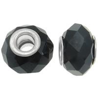 European kristalli helmiä, Rondelli, messinki Kaksoisjohdin ilman peikko & kasvot, Suihkukone, 13x10mm, Reikä:N. 5mm, 20PC/laukku, Myymät laukku