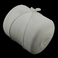 Polyester Nonelastic Thread, with plastic spool, white, 0.15mm, 2KG/Lot, Approx 30000m/KG, Sold By Lot