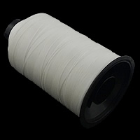 Polyester Nonelastic Thread, with plastic spool, white, 0.20mm, 5PCs/Lot, Sold By Lot
