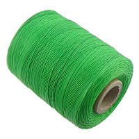 Polyester Nonelastic Thread, with plastic spool, green, 1mm, 3PCs/Lot, Sold By Lot