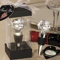 цинковый сплав бутылочная пробка, с стеклянные камешки & Силикон, Круглая, плакирован серебром, не содержит никель, свинец, 125x46x46mm, 15ПК/Лот, продается Лот