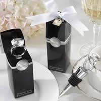 цинковый сплав бутылочная пробка, с стеклянные камешки & Силикон, кольцо форма, плакирован серебром, не содержит никель, свинец, 100mm, 15ПК/Лот, продается Лот