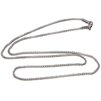 Stainless Steel Chain Necklace, 316L Stainless Steel, mesh chain, original color, 2mm, Length:Approx 19.5 Inch, 10Strands/Lot, Sold By Lot