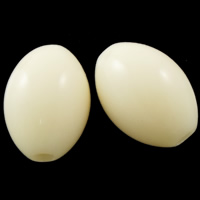 Solid Color Acrylic Beads, Oval, beige, 13x10mm, Hole:Approx 2mm, Approx 710PCs/Bag, Sold By Bag