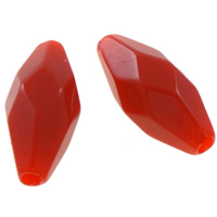 Solid Color Acrylic Beads, Oval, faceted, more colors for choice, 14x6mm, Hole:Approx 1.5mm, Approx 1660PCs/Bag, Sold By Bag