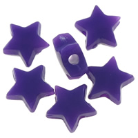 Solid Color Acrylic Beads, Star, more colors for choice, 6x6x3mm, Hole:Approx 0.5-1mm, Approx 12500PCs/Bag, Sold By Bag