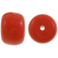 Solid Color Acrylic Beads, Rondelle, red, 14x20mm, Hole:Approx 3mm, Approx 125PCs/Bag, Sold By Bag