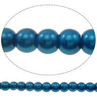 Glass Pearl Beads, Round, imitation pearl, more colors for choice, 6mm, Hole:Approx 1mm, Length:Approx 39.7 Inch, 10Strands/Bag, Approx 151/Strand, Sold By Bag