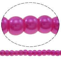 Glass Pearl Beads, Round, imitation pearl, more colors for choice, 4mm, Hole:Approx 1mm, Length:Approx 40 Inch, 10Strands/Bag, Sold By Bag