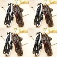 Браслеты с кожаным ремешком, Искусственная кожа, с вощеный шнур, разноцветный, 13mm, длина:6.5 дюймовый, 50пряди/Лот, продается Лот
