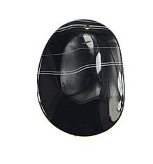 Wisiorki z czarnym agatem, Agat czarny, Płaski owal, 36-38x49-55x5mm, otwór:około 2mm, 30komputery/wiele, sprzedane przez wiele