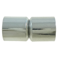 Brass Magnetic Clasp Tube plated nickel lead   cadmium free 10x20mm Hole:Approx 9mm 10PCs/Bag