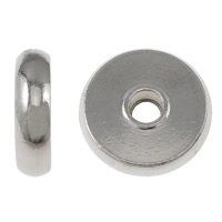 Stainless Steel Jewelry Beads, Flat Round, more sizes for choice, original color, Sold By Lot