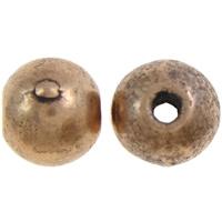 Sinkki metalliseos korut Helmet, Sinkkiseos, Pyöreä, antiikki kupari väri päällystetty, nikkeli, lyijy ja kadmium vapaa, 6mm, Reikä:N. 1mm, N. 1500PC/KG, Myymät KG