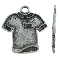 Vaatteiden Shaped Sinkkiseos riipukset, Takki, antiikki hopea päällystetty, nikkeli, lyijy ja kadmium vapaa, 25x27x2mm, Reikä:N. 3mm, N. 380PC/KG, Myymät KG
