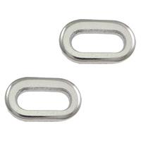 Roestvrij staal ring connectors, Plat Ovaal, oorspronkelijke kleur, 11x6.50x1.50mm, 2000pC's/Lot, Verkocht door Lot