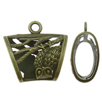 Zinc Alloy Scarf Slide Bail, Trapezium, antique bronze color plated, lead & cadmium free, 40x38x16mm, Hole:Approx 4.5mm, Sold By PC