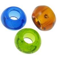 Кристаллы бусины Европейская стиль, Круглая форма, прозрачный & без Тролль, смешанных цветов, 14x8mm, отверстие:Приблизительно 6mm, 10ПК/сумка, продается сумка
