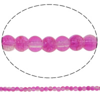 Crackle Glass Beads, Round, pink, 6mm, Hole:Approx 1.5mm, Length:Approx 31 Inch, 10Strands/Bag, Sold By Bag