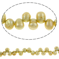 Rice Cultured Freshwater Pearl Beads, top drilled, Grade A, 6-7mm, Hole:Approx 0.8mm, Sold Per 14.5 Inch Strand