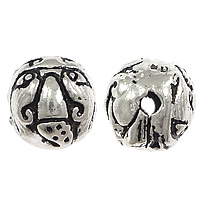Thailand Sterling Silver Beads, Round, 8, Hole:Approx 2mm, 10PCs/Bag, Sold By Bag