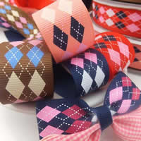 Grosgrain Ribbon, mixed colors, 25mm, 100Yards/Lot, Sold By Lot