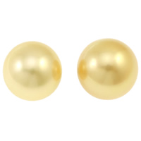 Akoya Cultured Pearl Beads, Akoya Cultured Pearls, Round, natural, no hole, gold, 14-15mm, Sold By PC