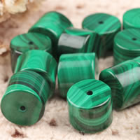 Natural Malachite Beads, Column, different size for choice, Hole:Approx 1-2mm, 5PCs/Lot, Sold By Lot