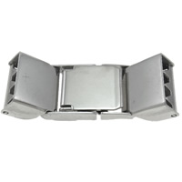 Stainless Steel Watch Band Clasp, Rectangle, original color, 32.50x11.50x6mm, 50PCs/Bag, Sold By Bag
