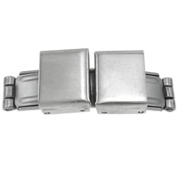 Stainless Steel Watch Band Clasp, original color, 34x11x10.50mm, Hole:Approx 10x2mm, 50PCs/Bag, Sold By Bag