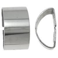 Stainless Steel Slide Charm, Dome, original color, 7x12.50x6.50mm, Hole:Approx 10x5mm, 50PCs/Bag, Sold By Bag