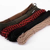 Paracord, 330 Paracord, for survival bracelet, more colors for choice, 4mm, 5PCs/Lot, 31m/PC, Sold By Lot