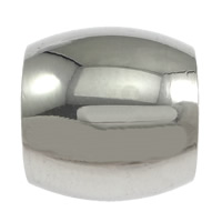 Stainless Steel Jewelry Beads, Oval, original color, 11x12mm, Hole:Approx 8mm, 100PCs/Lot, Sold By Lot