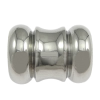 Stainless Steel Jewelry Beads, Column, original color, 13.50x10mm, Hole:Approx 6.5mm, 100PCs/Lot, Sold By Lot