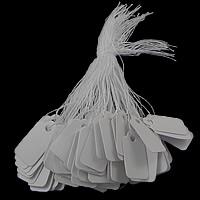 Sieraden Prijskaartjes, Papier, Rechthoek, wit, 26x16x0.30mm, 500pC's/Bag, Verkocht door Bag