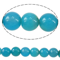 Natural Blue Agate Beads, Round, 10mm, Hole:Approx 1.5mm, Length:Approx 15 Inch, 20Strands/Lot, Approx 38PCs/Strand, Sold By Lot
