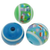 Koraliki z żywicy, żywica, Koło, różnej wielkości do wyboru, mieszane kolory, otwór:około 3mm, sprzedane przez torba
