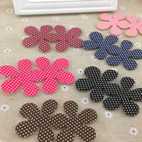 Cloth Magic Hair Pad, Flower, mixed colors, 85mm, 60PCs/Bag, Sold By Bag