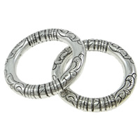 Copper Coated Plastic Linking Ring Donut antique silver color plated lead   cadmium free 35x5.5mm Hole:Approx 24mm 50PCs/Bag