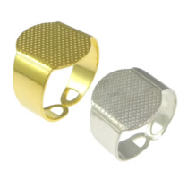 Brass Pad Ring Base, plated, more colors for choice, lead & cadmium free, 15mm, Hole:Approx 4x10mm, US Ring Size:7, 200PCs/Lot, Sold By Lot